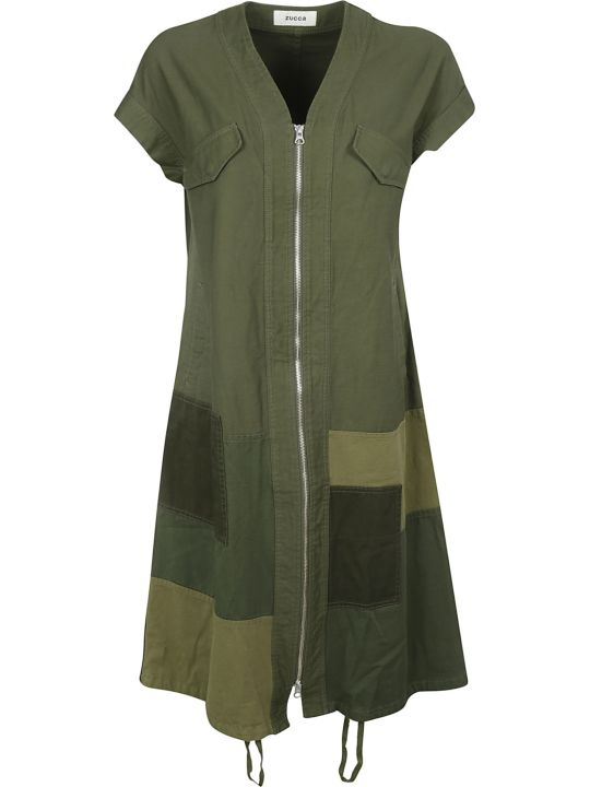 Zucca Long Patched Detail Dress