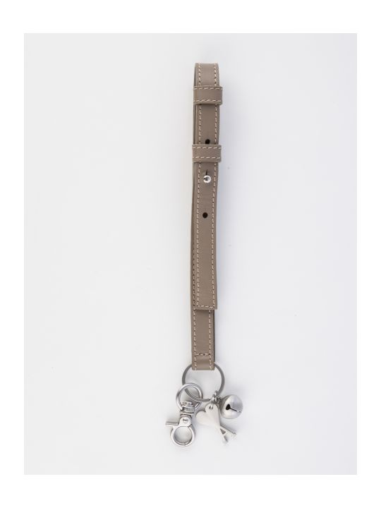 Ami Alexandre Mattiussi Small Strap Keyring With Bell