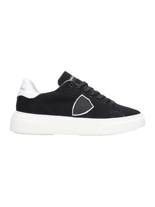 Philippe Model Temple  Sneakers In Black Tech/synthetic