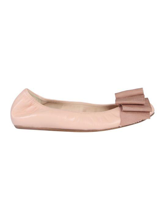 Lanvin Bow Trim Ballerinas