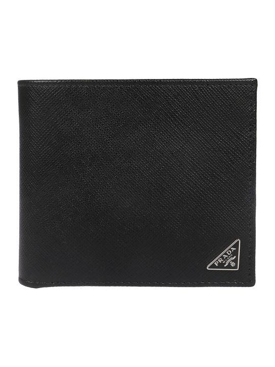 Prada Logo Patch Wallet