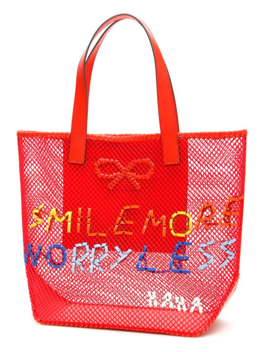 Anya Hindmarch Smile Woven Tote Bag