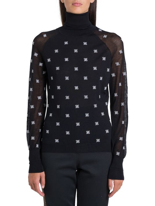 Fendi Ff Sheer Turtlenck