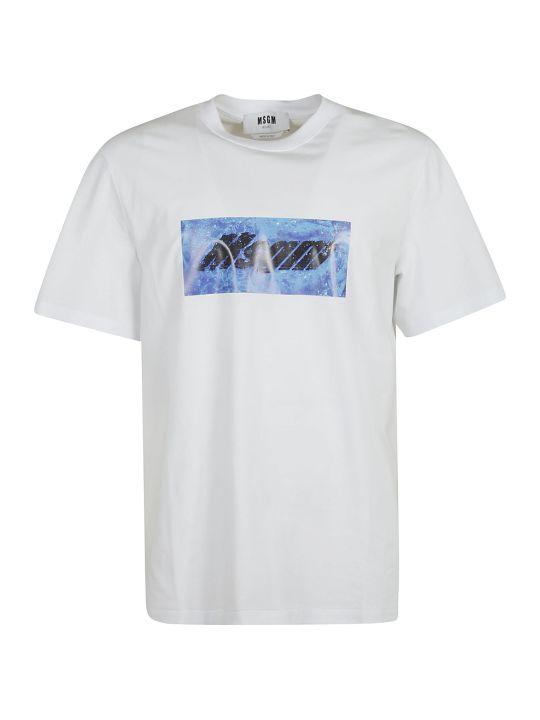 MSGM Centre Logo Print T-shirt