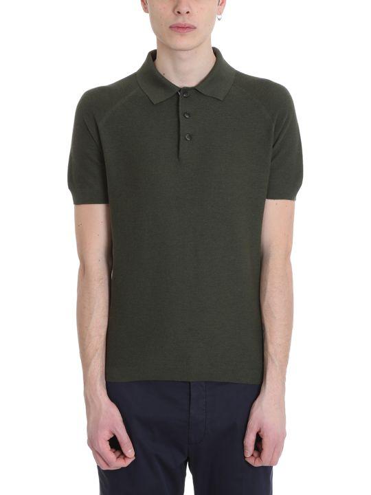Ermenegildo Zegna Green Cotton Polo