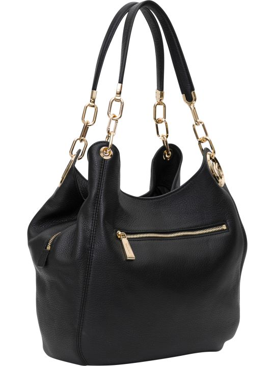 MICHAEL Michael Kors Lillie Large Chain Shoudler Tote In Small Pebble Leather 18k