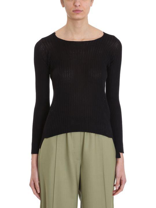 Maison Flaneur Knit Black Silk Sweater