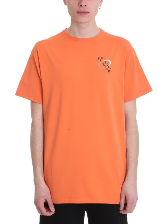 Filling Pieces Orange Cotton T-shirt