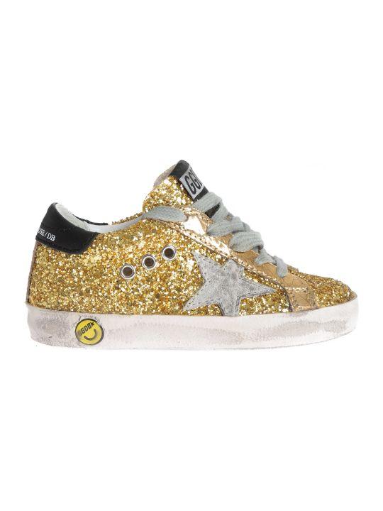 Golden Goose Kids Glittery Superstar Sneakers