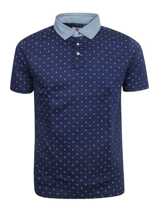 Luigi Borrelli Circle Motif Print Polo Shirt