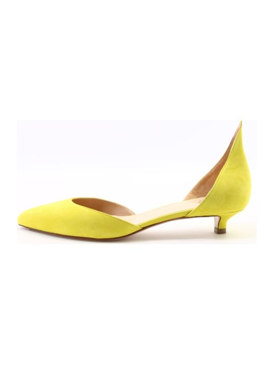Francesco Russo Dècolleté Suede Lime