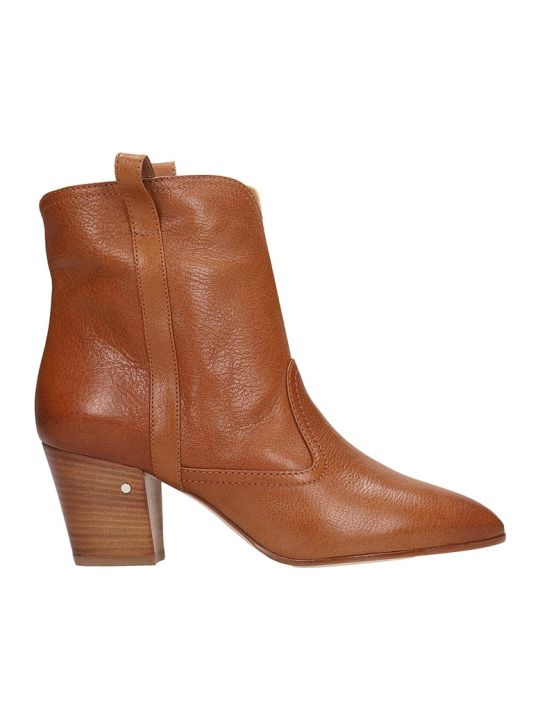 Laurence Dacade Sheryll Texan Ankle Boots In Leather Color Leather