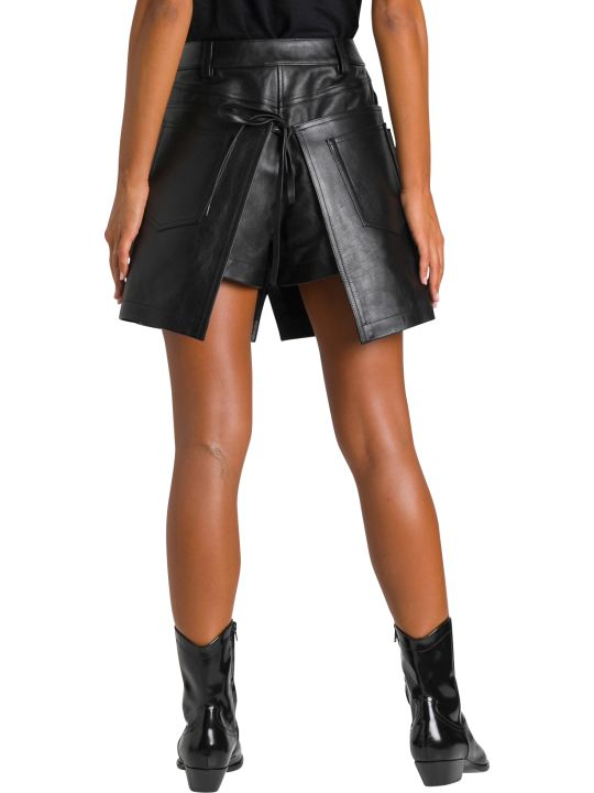 Alexander Wang Apron Leather Mini Skirt