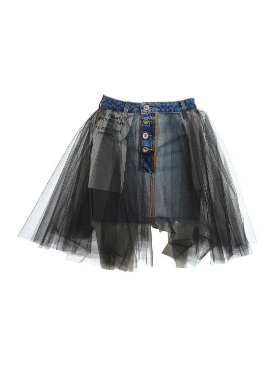 Ben Taverniti Unravel Project Unravel Denim Tulle Skirt