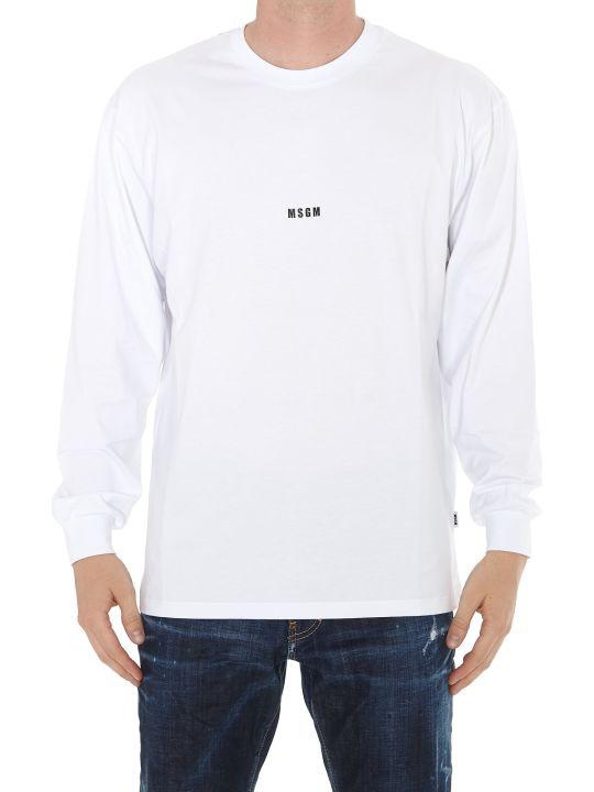 MSGM Long Sleeves Logo T-shirt