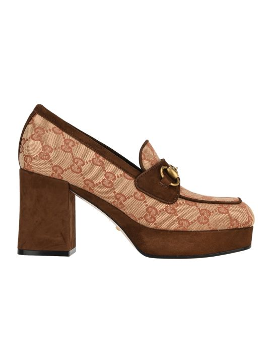 Gucci Gg Platform Mid-heel Loafers