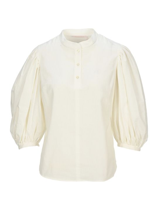 See by Chloé Puff Shoulders Blouse