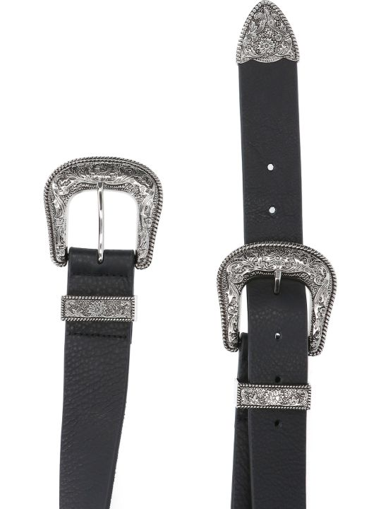 B-Low the Belt Bri Bri Double Buckle Belt