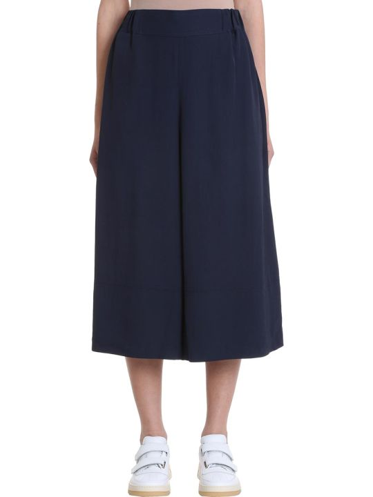 Acne Studios Polly Fluid Twill Blue Trousers