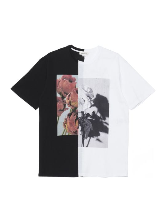 Alexander McQueen 'roses' T-shirt