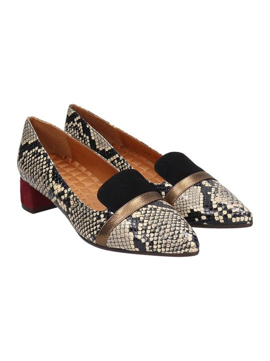 Chie Mihara Roz Pumps In Animalier Suede And Leather