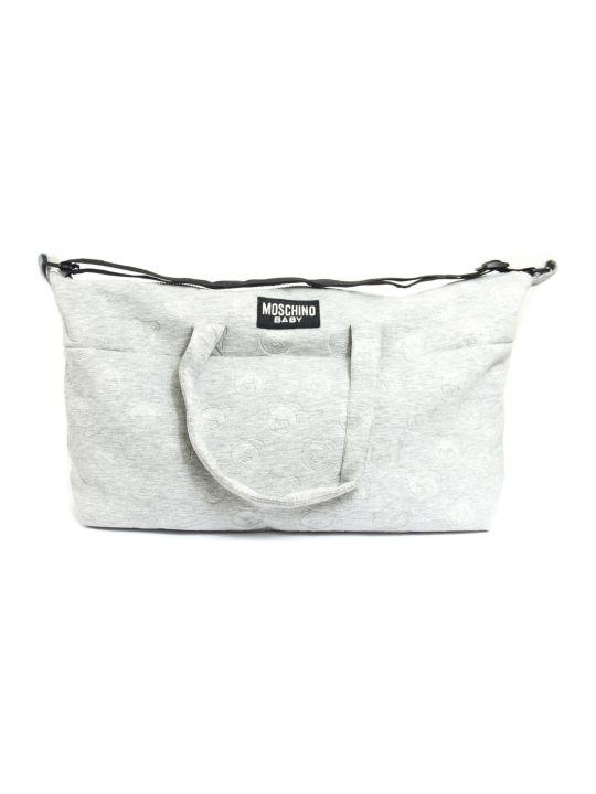 Moschino Light Grey Bear Pattern Changing Bag