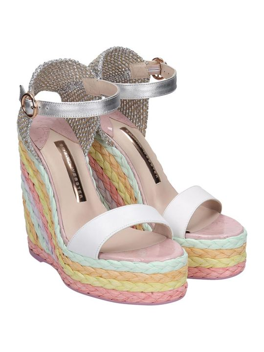 Sophia Webster Lucita Wedges In Multicolor Leather