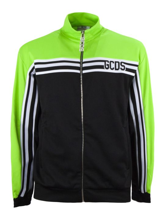 GCDS Black Cotton Logo Track Jacket