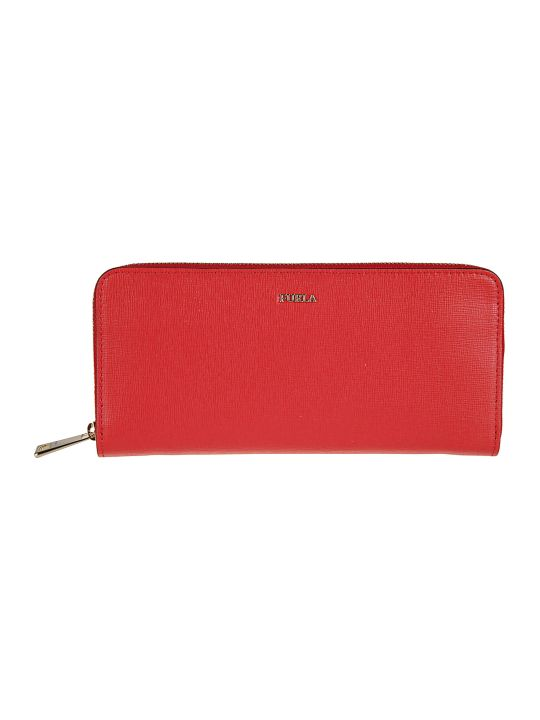 Furla Logo Plaque Zip Around Wallet