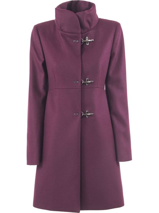 Fay Bordeaux Virgin Wool-cashmere Jacket