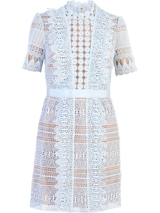 self-portrait Light Blue Short Dress
