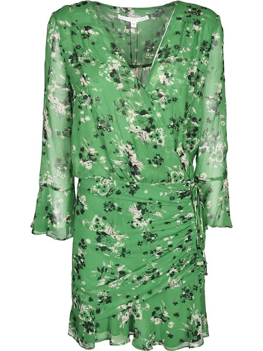Veronica Beard Floral Print Wrap Dress
