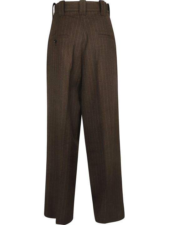 Y's Stripe Cropped Trousers