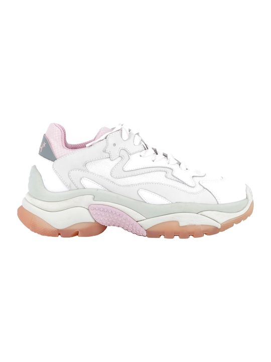 Ash Pink/silver Leather Sneakers