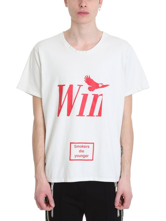 Rhude Win White Cotton T-shirt