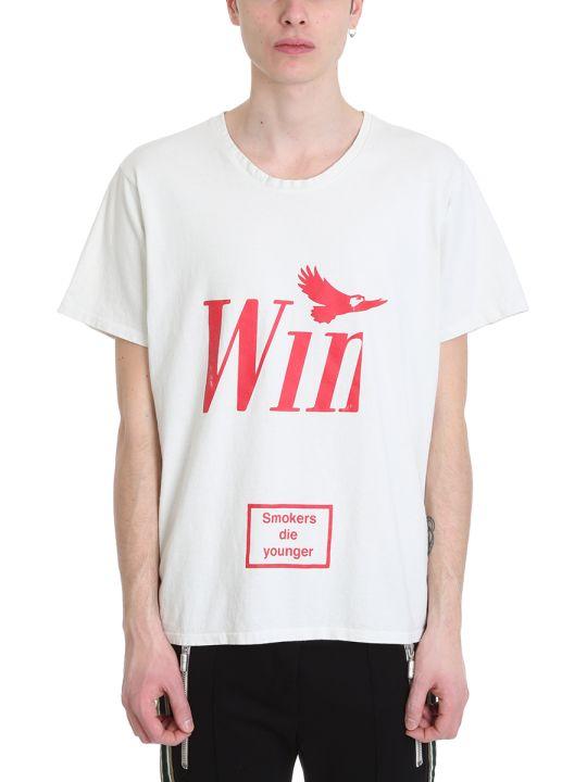 Rhude Win White Cotton T-shirt