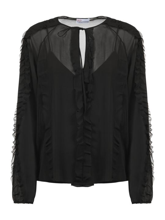 RED Valentino Sheer Blouse