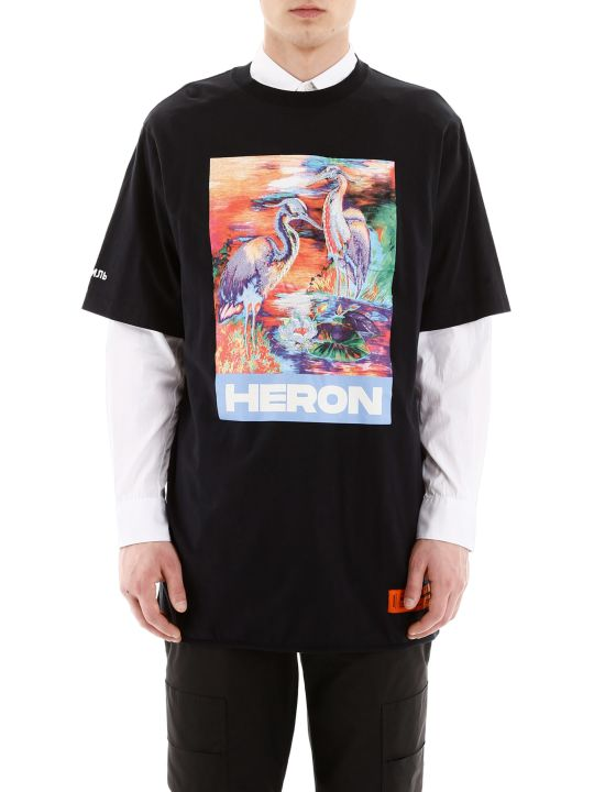 HERON PRESTON Heron Print Oversized T-shirt
