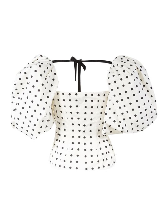Giuseppe di Morabito Dotted Wrapped Effect Blouse