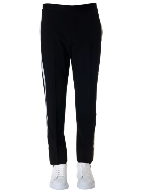 Helmut Lang Black Wool Tapered Trousers