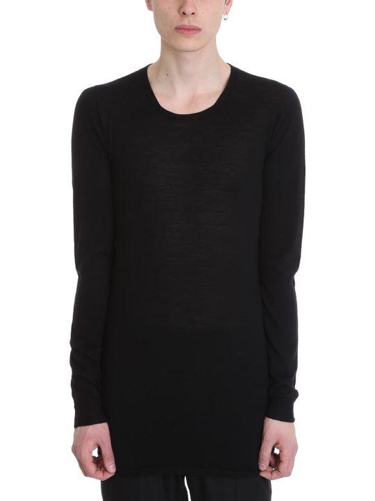 Rick Owens Black Wool Sweater