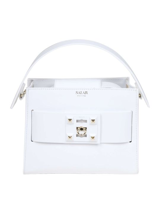 Salar Handbag Ludo In White Leather