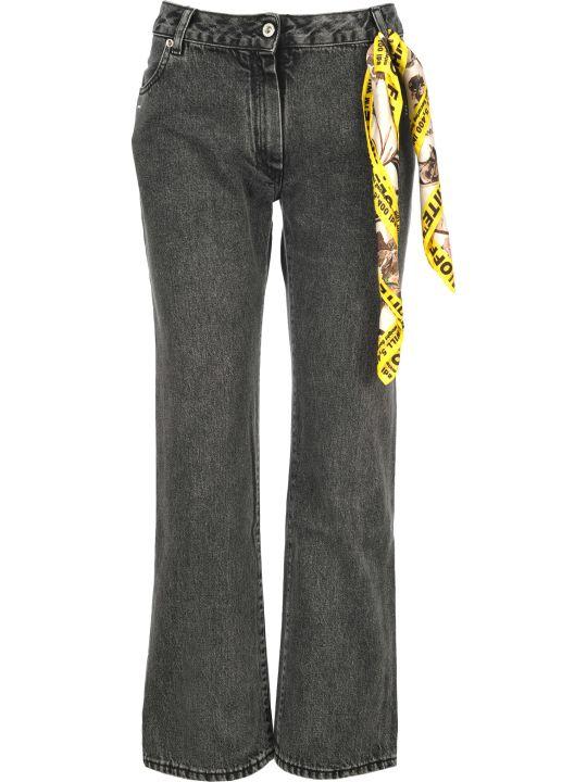 Off-White Off White Foulard Belt Denim Jeans