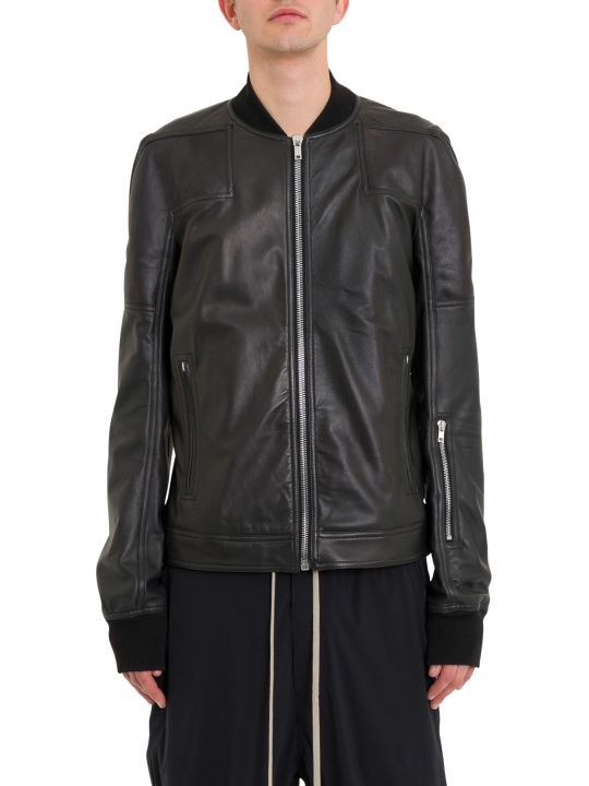 Rick Owens Rottersis Leather Bomber Jacket