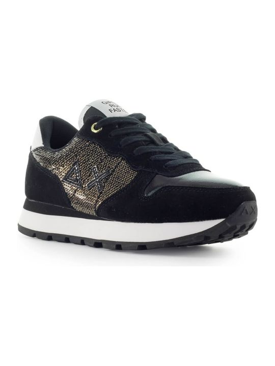 Sun 68 Sun68 Ally Golden Sequins Black Sneaker