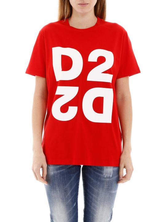 Dsquared2 Maxi D2 Print T-shirt
