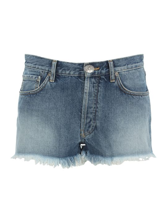 Alanui Alanui Navajo Embroidered Denim Shorts