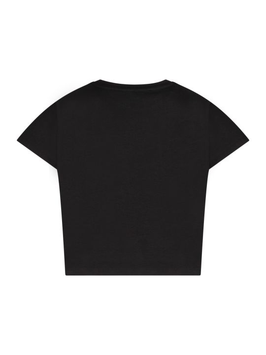 Givenchy Black T-shirt With Colorful Logo For Girl