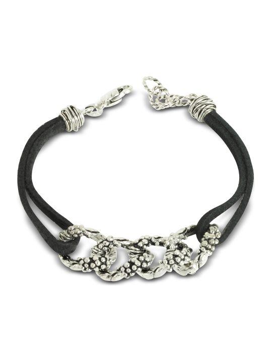GIACOMOBURRONI Giacomo Burroni Leather Bracelet W/links