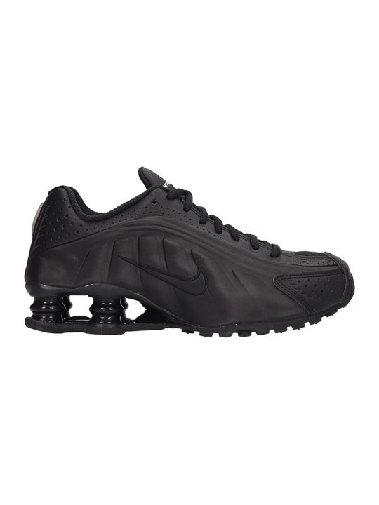 Nike Black Leather Shox R4 Snaekers